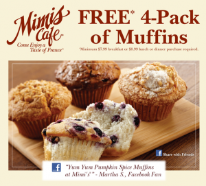 Free Muffins With Mimi S Cafe Enza S Bargains