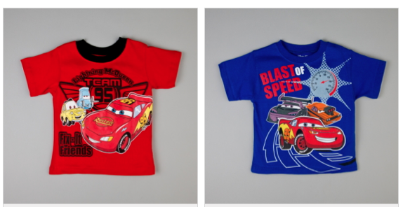 740d641b4 Cars T-shirt Sale: Huge Character Sale With Disney and Sesame Street ...