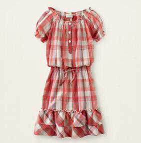Children's Red Plaid Dress