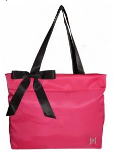 Nylon Bow Tote Handbag