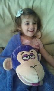 cuddleuppet purple monkey