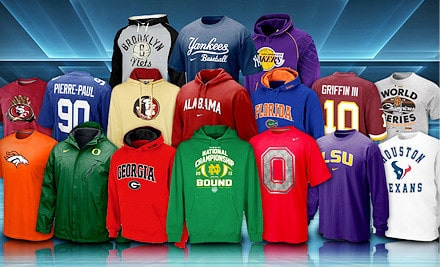Groupon: Fanatics Sports Apparel - 50% Off! (Ends 6/5/13 ...