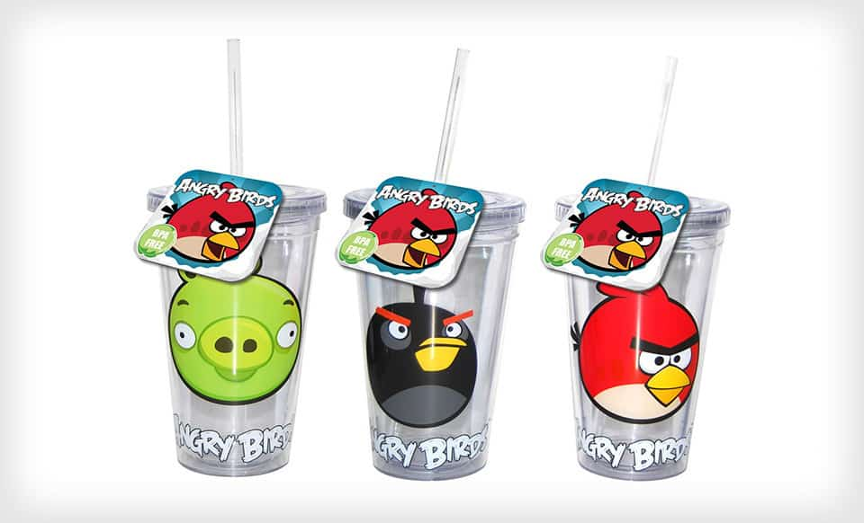 Groupon Angry Birds Tumblers And Aluminum Water Bottles