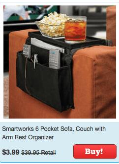 couch arm rest organizer