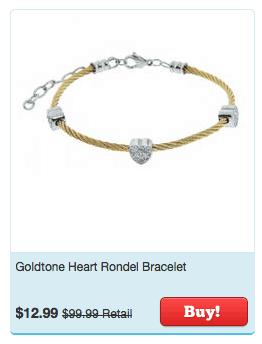 goldstone heart rondel bracelet