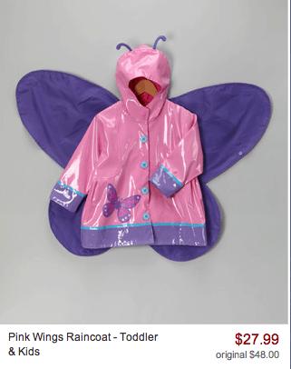 pink wings raincoat