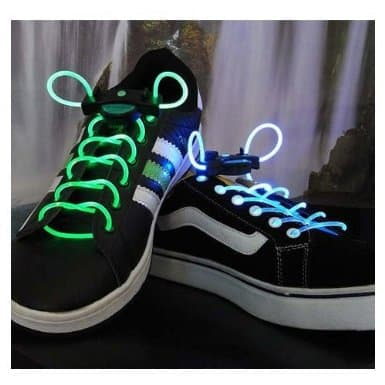 LED shoelaces in sho