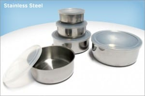 Eversave's Stainless Steel Set: 5 Bowls with Lids