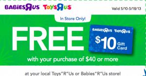 free 10 gift card at babies r us printable coupon