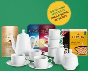 gevalia tea set and coffee