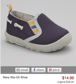 navy slip on shoe
