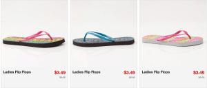 women flip flops 3.49 shipped