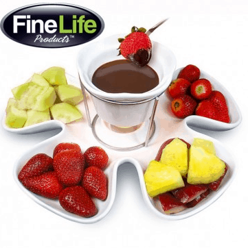 flower fondue set