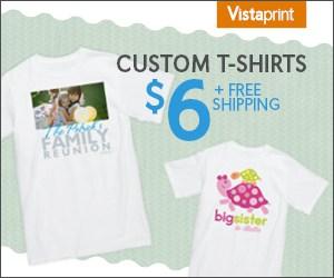 vistaprint tshirt offer