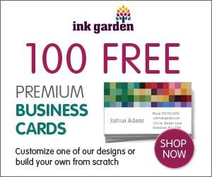 100 free premium business cards