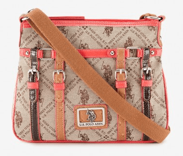 U.S. POLO ASSN. CORAL NETWORK JACQUARD CROSSBODY