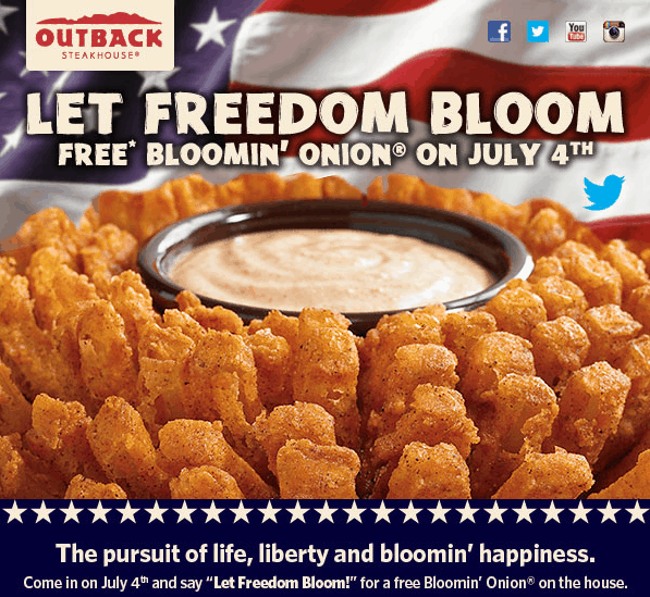 free bloomin onion