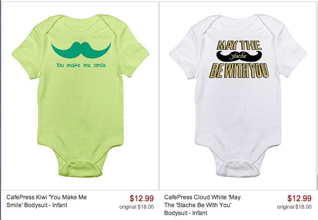 mustache onesies