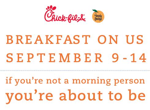 ChickfilA FREE Breakfast Item