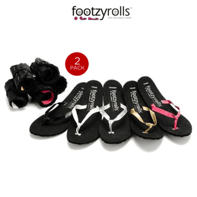 rollable flip flops