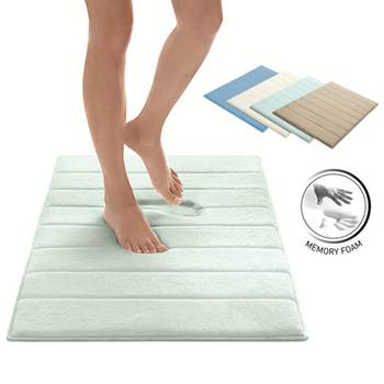 Designer's Collection Memory Foam Bath Mat with Microplush Fabric