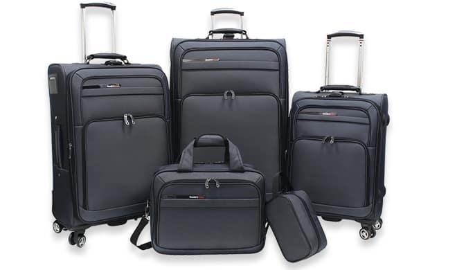 mendocino 5 pc luggage set