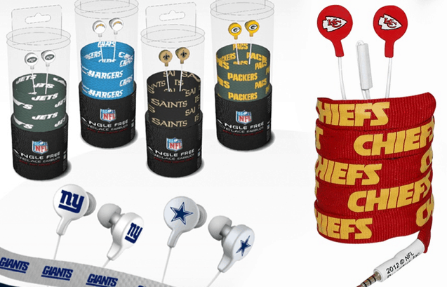 nfl shoelace earbuds