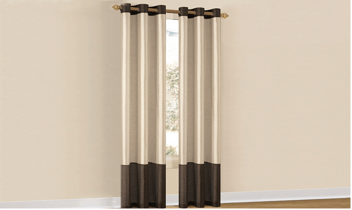 two tone curtains