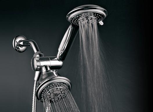 DreamSpa 24-Setting Ultra-Luxury 3-Way 2-in-1 Shower Combo w ...