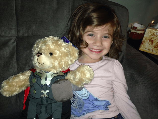 I gave my 4 year old Thor right before I left for L.A. for the Thor Dark World Event Red Carpet!