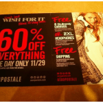 Black Friday 2013 Aéropostale Ad:  60% Off EVERYTHING!