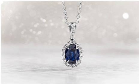 blue nile blue necklace