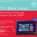 Black Friday 2013 Dell Ad:  Up to 50% off, Lowest Price On Inspiron 15 & MORE!