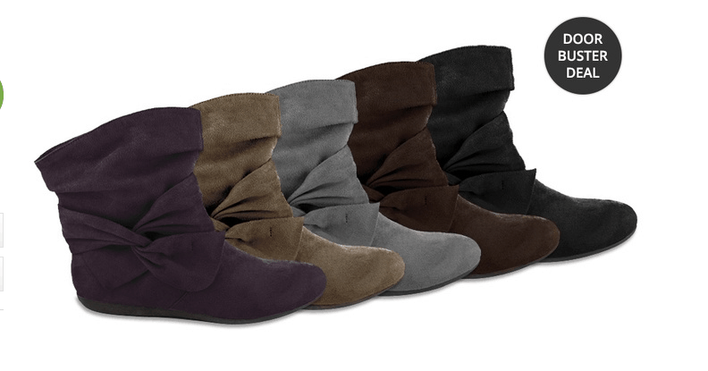 faux sued boots