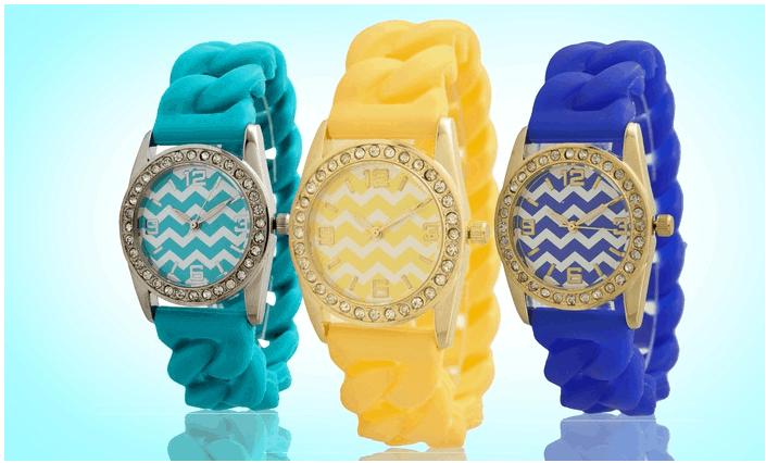 geneva women's braided silicone watches