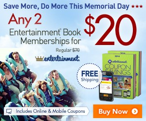 Score 2 Entertainment Books for ONLY $20 Shipped!