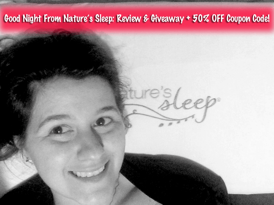 Nature's Sleep Vitex Gel Memory Foam Pillow: Review, Giveaway, and 50% Off Coupon Code!