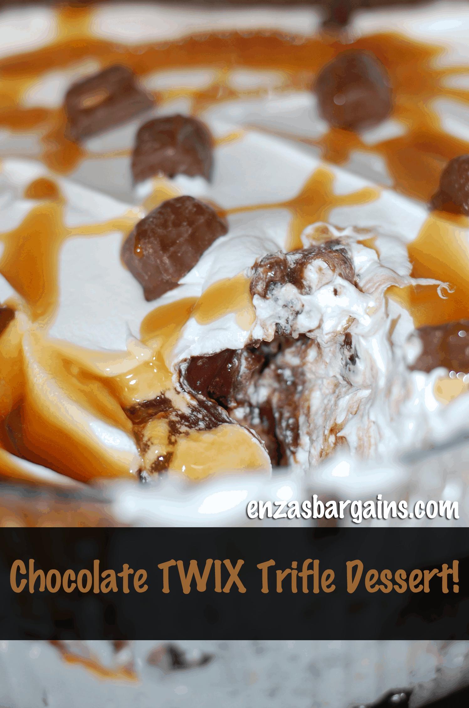 Twix Dessert: Chocolate Trifle Dessert Made With TWIX Bites!