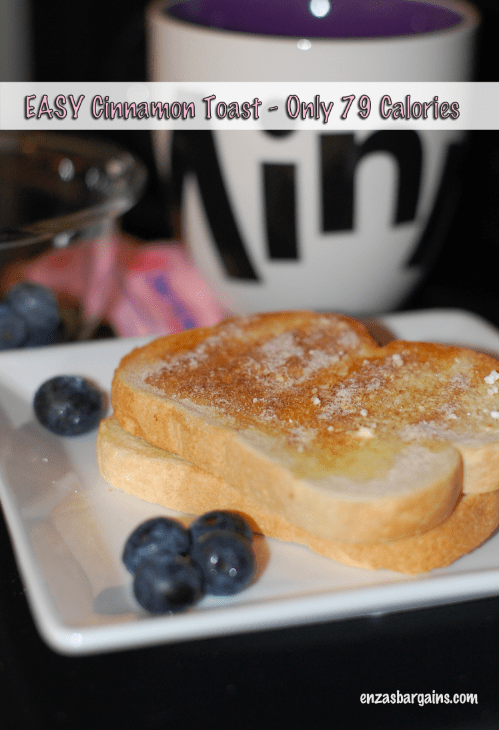 Here is a REALLY easy way to crate Cinnamon Toast and use Sweet'N Low to lower calories! Check out the pictures!