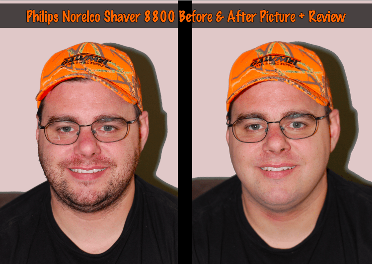 Norelco Shaver 8800 Review Before & After