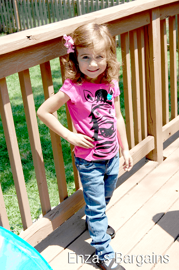 Kohl's Back to School Sonoma Jeans with Jumping Beans Shirt.  Shoes are also Jumping Beans.