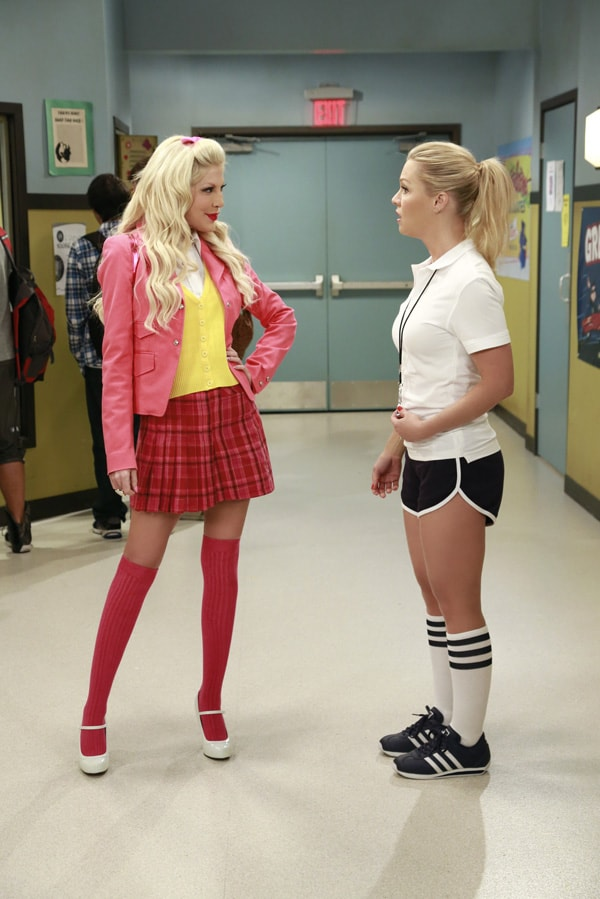 """MYSTERY GIRLS - """"High School Mystery"""" - The hallowed halls of West Beverly High are filled with familiar faces when """"Beverly Hills, 90210"""" star Joe E. Tata (Nat) guest stars on an all-new episode of """"Mystery Girls,"""" airing on Wednesday, July 23rd  at 8:30 p.m. ET/PT.  Photo Credit: ABC FAMILY/ Ron Tom"""