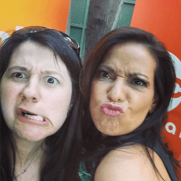Funny face selfie with Constance!