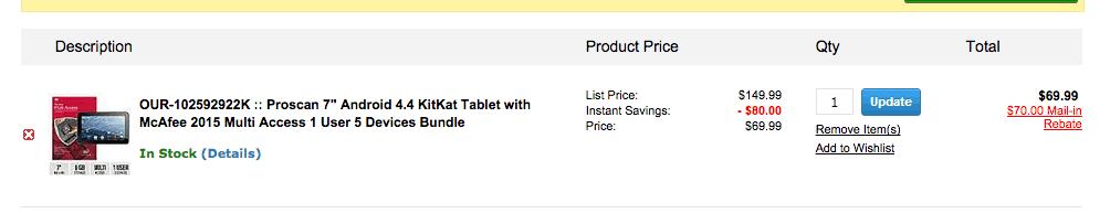 FREE Proscan 7 Tablet