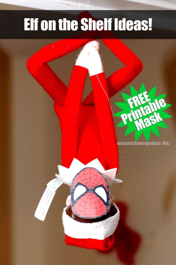 elf on the shelf spiderman mask