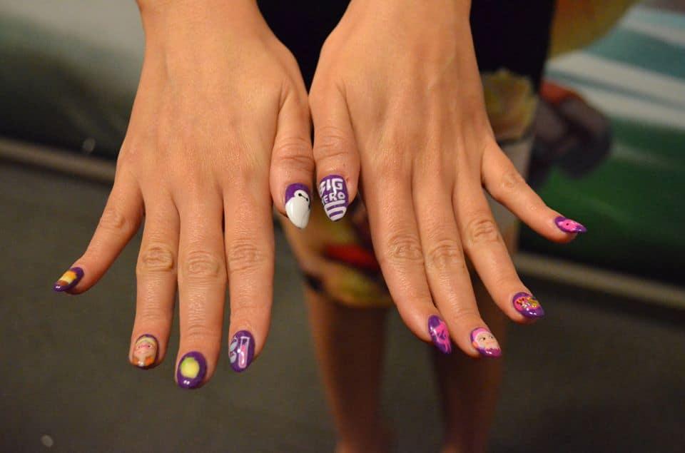 Genesis wearing her special Big Hero 6 nails! #nailart