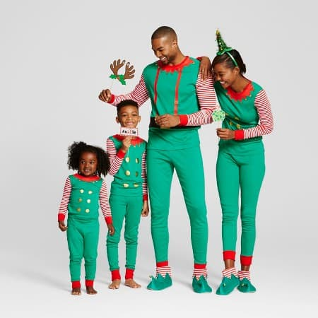 2016 Elf Matching Family Pajamas from Target