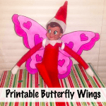 Elf on the Shelf Butterfly Printable Wings!