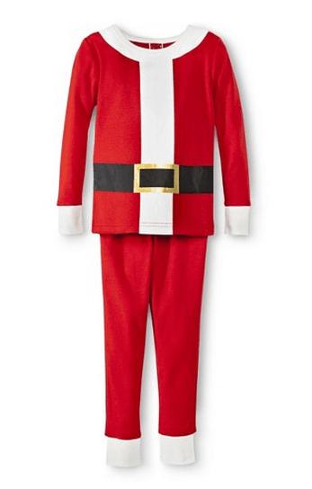 Santa T-shirt and Matching Pajamas