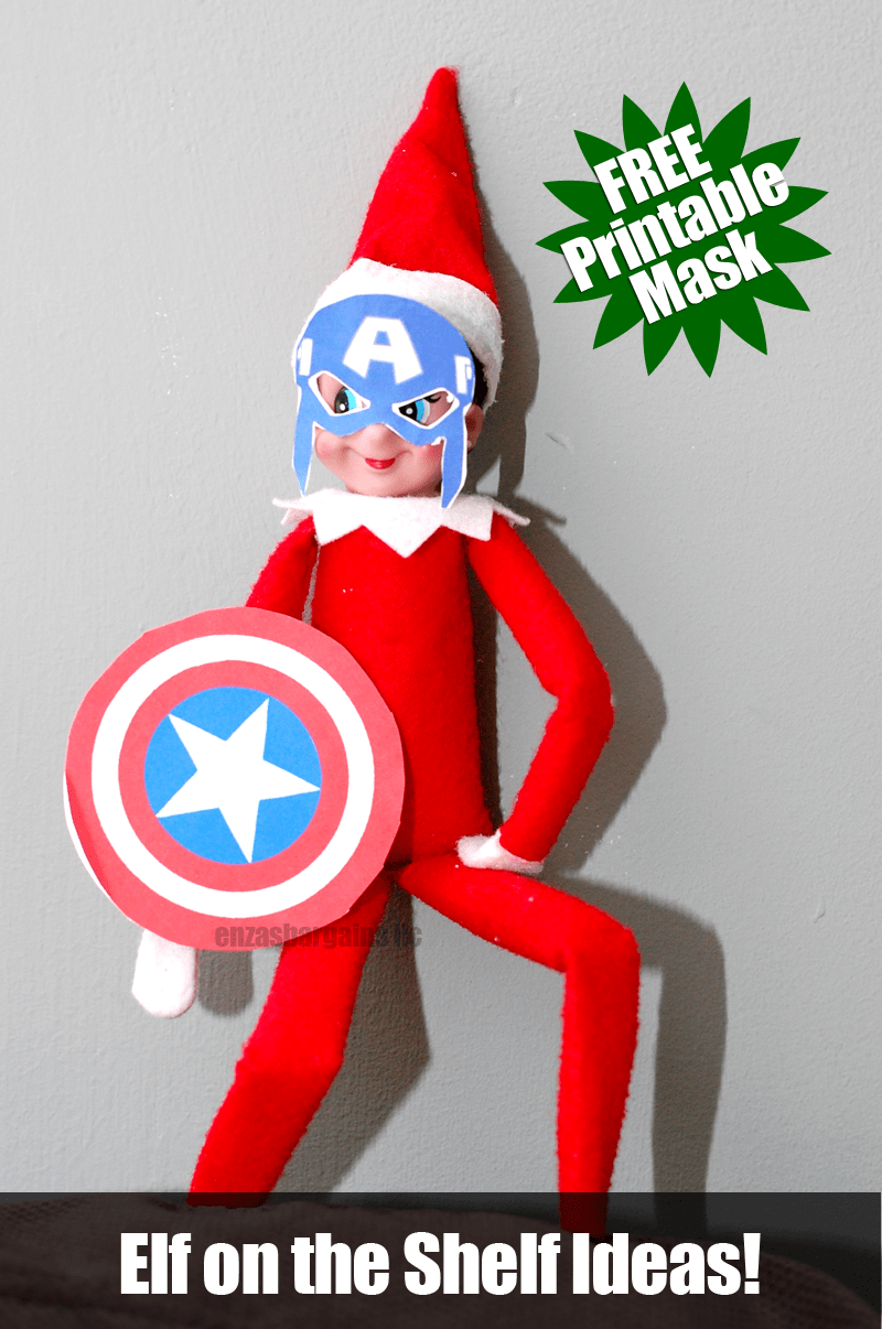 photo relating to Captain America Mask Printable known as Elf upon the Shelf Captain The united states Mask: Cost-free Mask